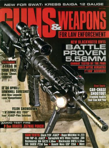 Guns & Weapons For Law Enforcement Cover - 8/1/2008