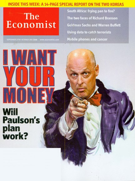 The Economist Cover - 9/27/2008