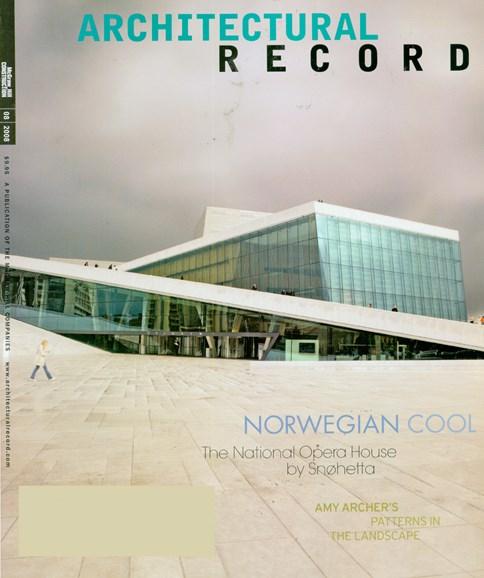 Architectural Record Cover - 8/1/2008