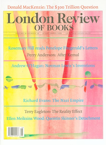 London Review Of Books Cover - 9/25/2008