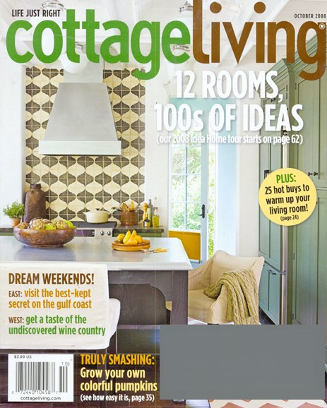 Cottage Living Cover - 10/1/2008
