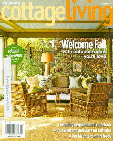 Cottage Living Cover - 9/1/2008