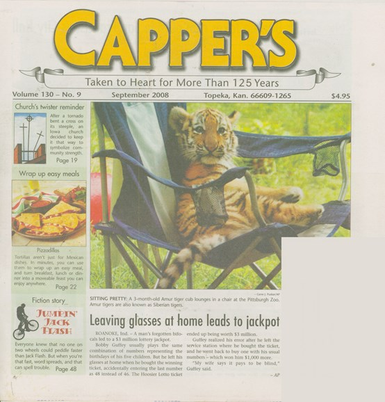 Capper's Cover - 9/1/2008