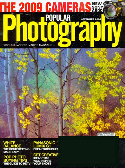 Popular Photography Cover - 11/1/2008