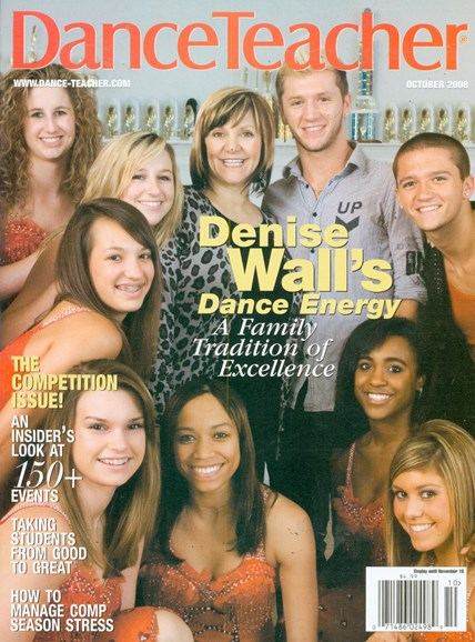 Dance Teacher Cover - 10/1/2008