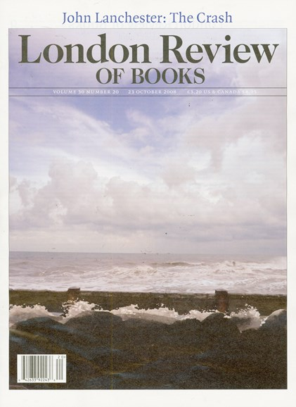 London Review Of Books Cover - 10/23/2008