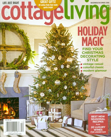Cottage Living Cover - 11/1/2008
