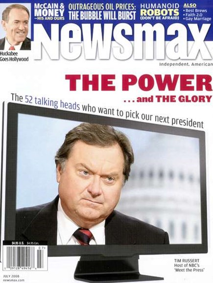 Newsmax Magazine Cover - 8/1/2008