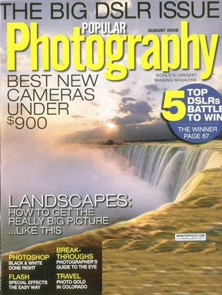 Popular Photography Cover - 8/1/2008