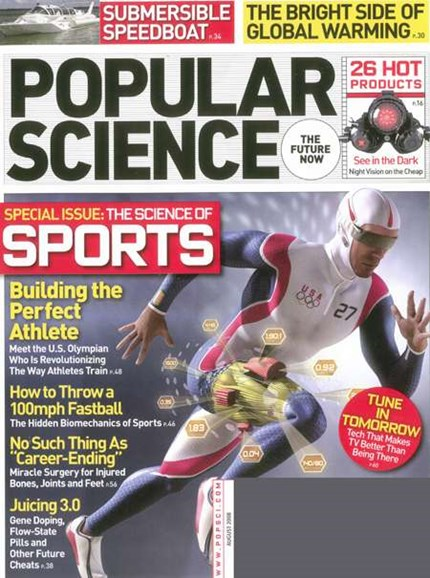 Popular Science Cover - 8/1/2008