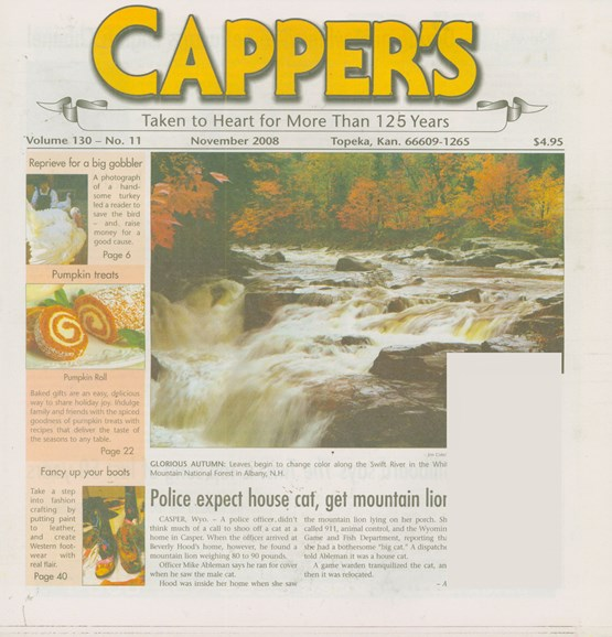 Capper's Cover - 11/1/2008