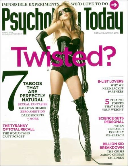 Psychology Today Cover - 8/1/2008