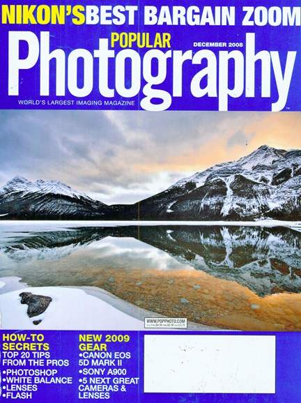Popular Photography Cover - 12/1/2008