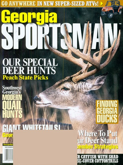 Georgia Sportsman Cover - 12/1/2008