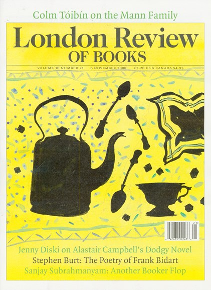 London Review Of Books Cover - 11/6/2008