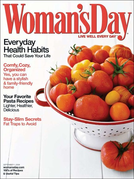 Woman's Day Cover - 9/1/2008