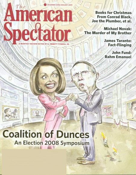 The American Spectator Cover - 12/1/2008