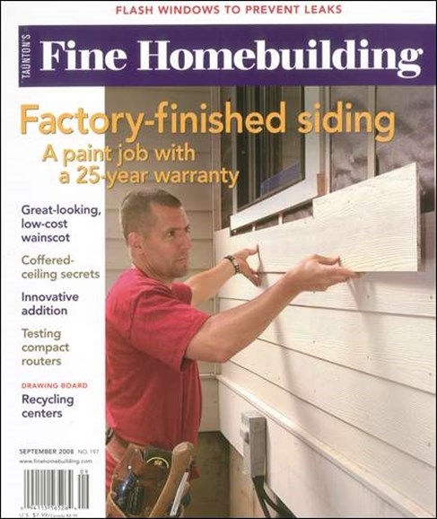 Fine Homebuilding Cover - 9/1/2008