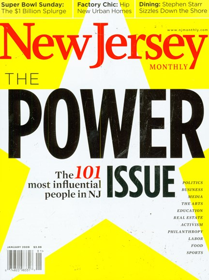 New Jersey Monthly Cover - 1/1/2009