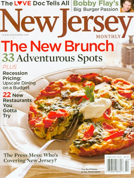 New Jersey Monthly Cover - 2/1/2009