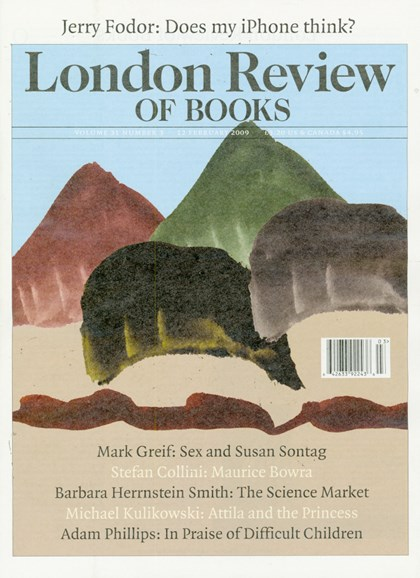 London Review Of Books Cover - 2/1/2009