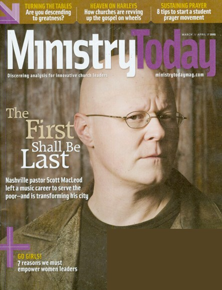 Ministry Today Cover - 3/1/2009