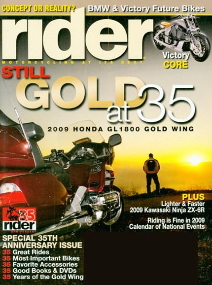 Rider Cover - 4/1/2009