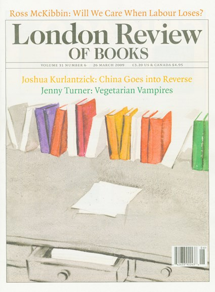 London Review Of Books Cover - 3/26/2009