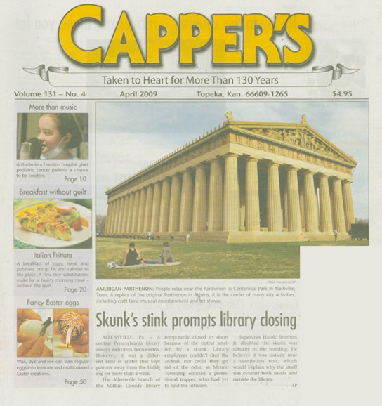 Capper's Cover - 4/1/2009