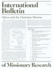 International Bulletin Of Missionary Research | 4/1/2009 Cover