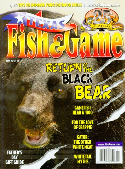 Texas Fish & Game Cover - 5/1/2009