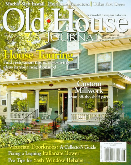 Old House Journal Cover - 6/1/2009