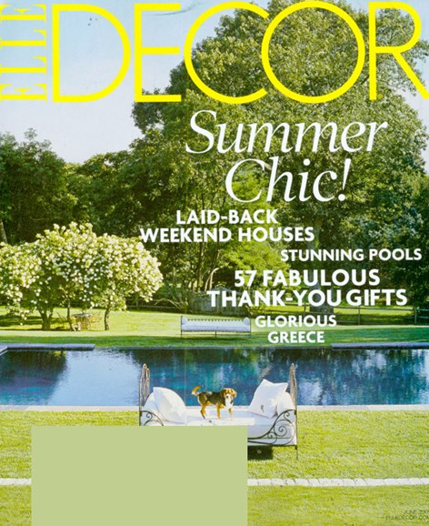ELLE DECOR Cover - 6/1/2009