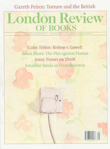 London Review Of Books Cover - 5/14/2009