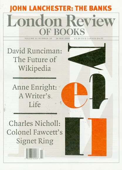 London Review Of Books Cover - 5/1/2009
