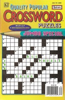 Quality Popular Crossword Puzzles Jumbo Magazine 7/27/2009