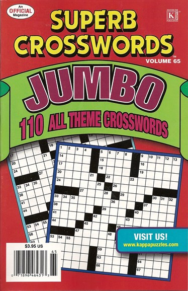 Superb Crosswords Jumbo Cover - 8/1/2009