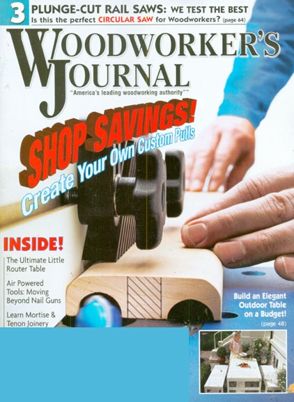 Woodworker's Journal Cover - 6/1/2009