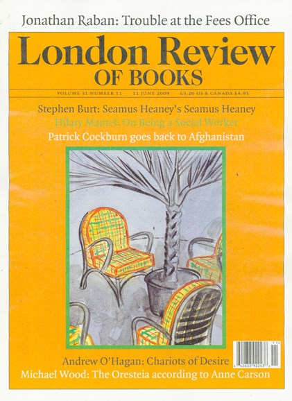 London Review Of Books Cover - 6/11/2009