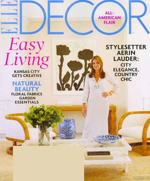 ELLE DECOR Cover - 7/1/2009