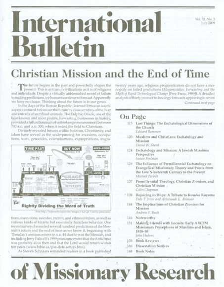 International Bulletin Of Mission Research Cover - 7/1/2009