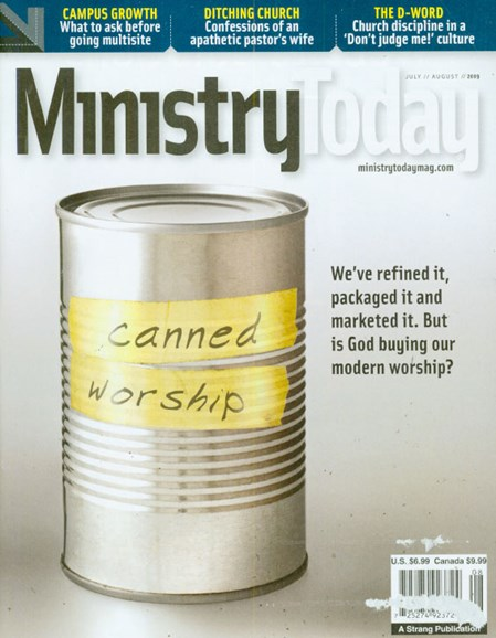Ministry Today Cover - 7/1/2009