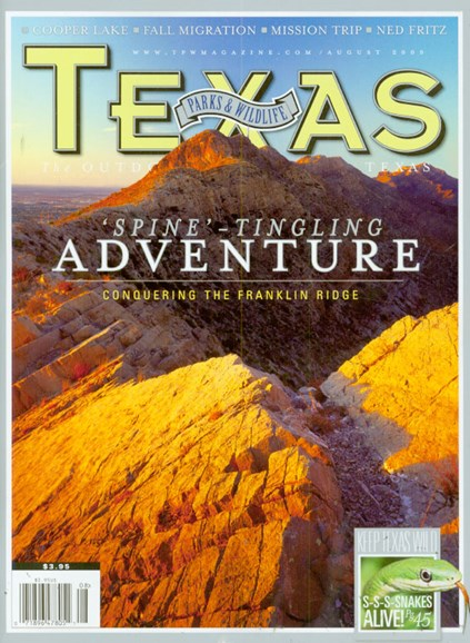 Texas Parks & Wildlife Cover - 8/1/2009