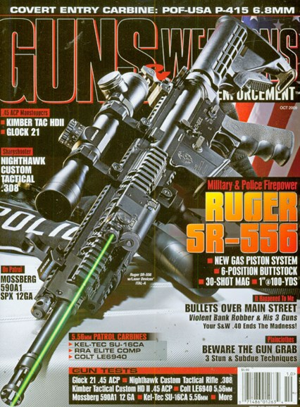 Guns & Weapons For Law Enforcement Cover - 10/1/2009