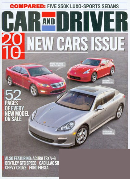 Car And Driver Cover - 9/1/2009