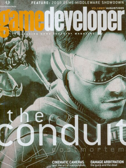 Game Developer Cover - 8/1/2009