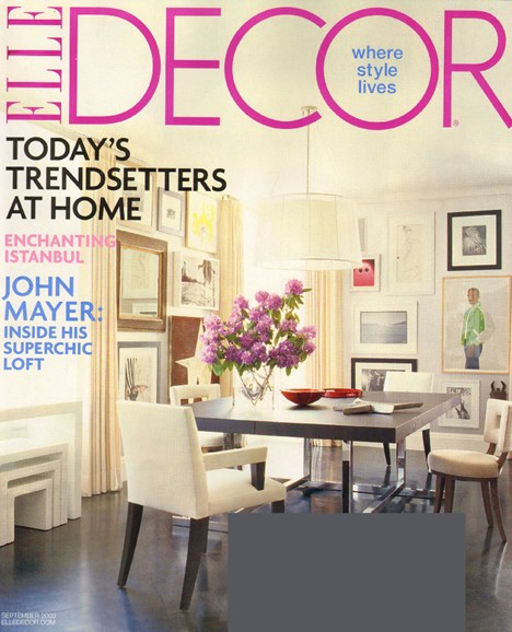 ELLE DECOR Cover - 9/1/2009
