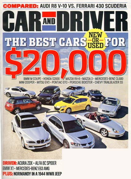 Car And Driver Cover - 10/1/2009