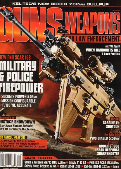 Guns & Weapons For Law Enforcement Cover - 11/1/2009