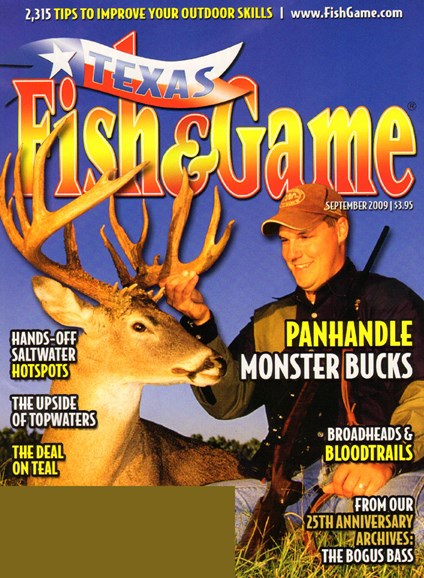 Texas Fish & Game Cover - 9/1/2009
